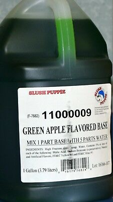 Slush Puppie Green Apple Flavored Base 2/1 Gallon (Makes 12 Finished Gallons)