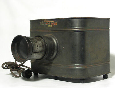 Antique Mirrorscope Postcard Tin Lantern Projector
