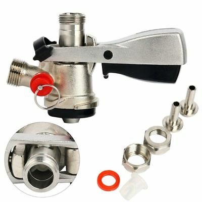 Keg Coupler D System Pressure Relief Safety Device with SS probe & Brass Body US