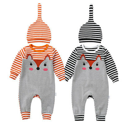 Newborn Infant Baby Boys Girls Overall Romper Spring Jumpsuit Outfit Bodysuit