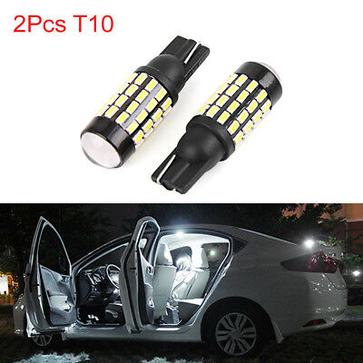 2pcs T10 W5W 3014 SMD 54 LEDs White Car Wedge Light Door Dome Bulbs 194 168