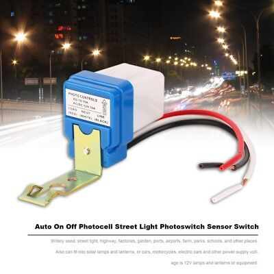 AC DC 12V 10A Auto On Off Photocell Street Light Photoswitch Sensor Switch BE