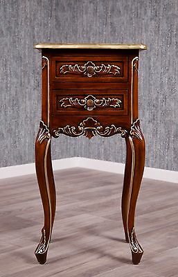 Baroque Night Table Box Dresser Antique Solid Empire Console Bed Hazel Gold
