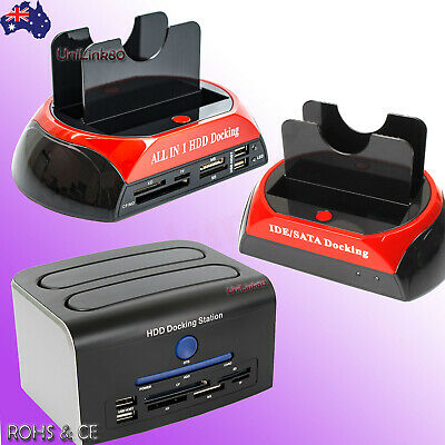 SATA / IDE HDD Docking Station Hard Disk Drive Dock OTB / Card Reader / USB HUB