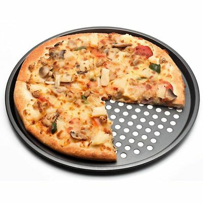 Carbon Steel Nonstick Pizza Baking Pan Tray 32cm Pizza Plate Dishes Holder J2G6