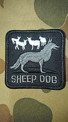 New Sheep Dog Grey Black Tactical Morale Airsoft Army Patch Australia Aus Seller