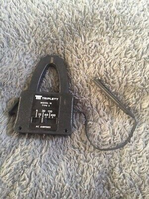 Triplett Model 10 Type 3  Clamp On Adapter Ac Amperes