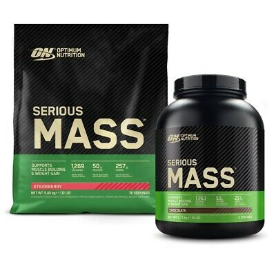 Optimum Nutrition Serious Mass 2.72kg 5.4kg Weight Gainer Mass Protein Powder