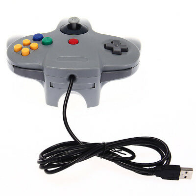 Wired Gaming Controller Joystick  USB GamePad for Nintendo 64 Consoles Laptop/PC