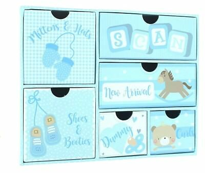 Kenleys Baby Boy Keepsake Box & Drawers - Baby Shower/Birth Gift