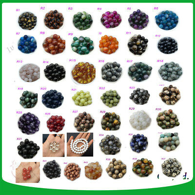 Wholesale Lot Natural Gemstone Round Spacer Loose Beads 4-6-8-10-12 Natural