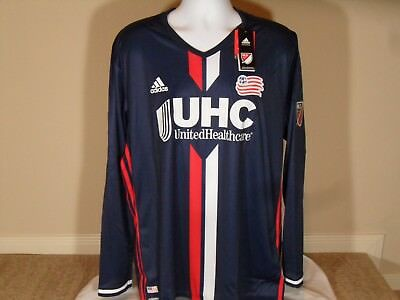 ebb65c473bb Adidas Adizero MLS New England Revolution Authentic LS Home Soccer Jersey  2XL