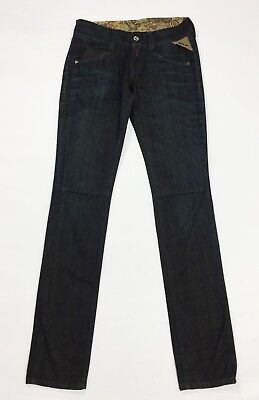 Replay 553A jeans donna usato w26 L34 tg 40 slim skinny blu denim sexy hot T3676