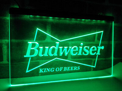 Budweiser King Beers Home Decor LED Neon Sign Light Cafe Beer Bar Plate Club Pub