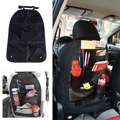 Car Back Seat Multi-Pocket Organizer Holder Storage Bag For Children Kick Mat
