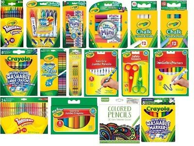 Crayola pencils, Washable Markers, Chalk, Jumbo Crayons, Crayons, Scissors