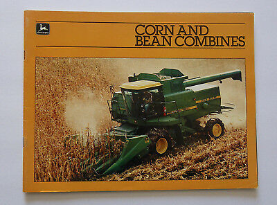 1983 John Deere 8820 7720 6620 SideHill 6620 4420 Combine Brochure Corn And Bean