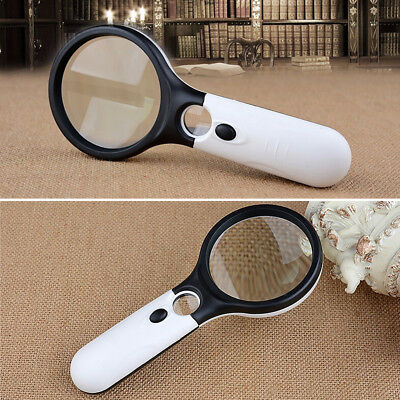 45X Handheld Mini Pocket Reading Magnifying Glass Lens lupa Microscope Magnifier