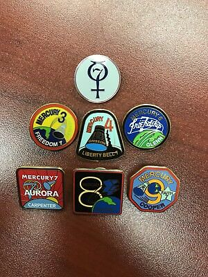 Mercury Space Program Lapel Pin Set