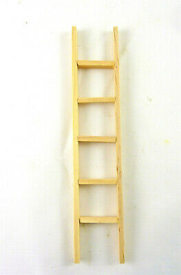 "Dollhouse Miniature 6"" Wooden Ladder"