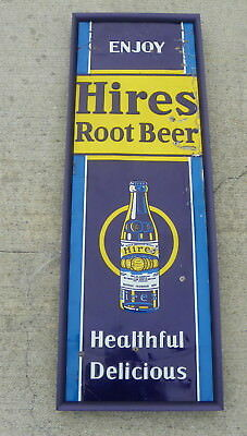 Hires Root Beer Tin Sign W/bottle 1930's