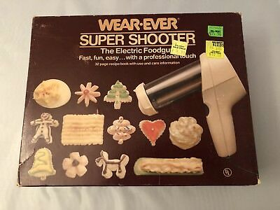 Vintage Wear-Ever Electric Super Shooter Cookie Press Foodgun Model#70123