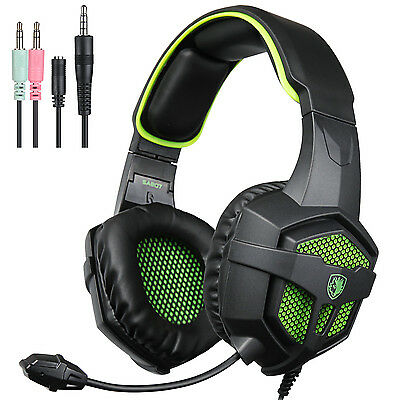 SADES Gaming Headsets with Mic and Volume Control for PS4 PC Computer  (Green)
