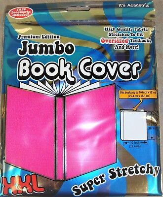 Jumbo Book Cover by Its Academic Premium Edition XXL Stretchable Fabric Pink NEW