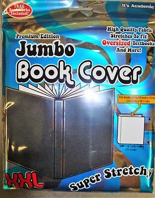 Jumbo Book Cover by It's Academic Premium Edition XXL Stretchable Fabric - Black