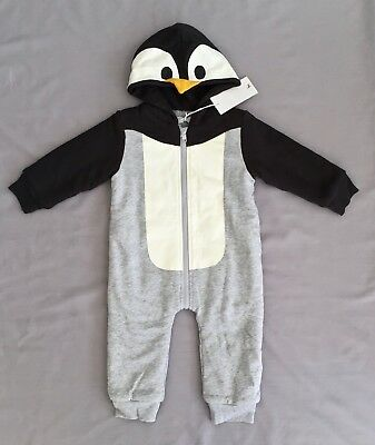 NWT STELLA McCARTNEY BOY or GIRL HOODED PENGUIN ONE PIECE 2 SZ 24 MONTHS RRP$160