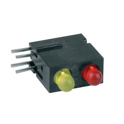1x 1801.1831 Diode LED in housing 3mm THT red yellow 1.2-4mcd 10-20mcd MENTOR