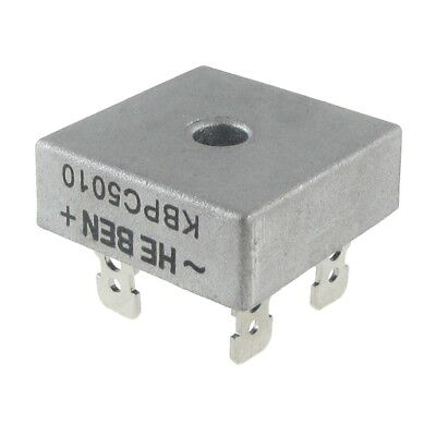 Single Phase Diode Bridge Rectifier 50A 1000V KBPC5010 New A4P9