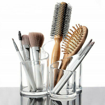 Clear Acrylic 3 Cylindrical Holder Brush Makeup Cosmetic Organizer Hot Sale