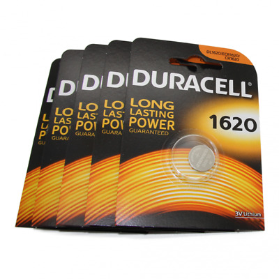5x Duracell CR1620 3V Lithium Button Battery Coin Cell DL/CR/ECR 1620 Exp. 2026