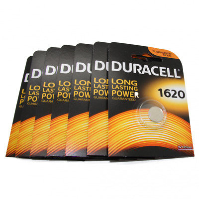 7x Duracell CR1620 3V Lithium Button Battery Coin Cell DL/CR/ECR 1620 Exp. 2026