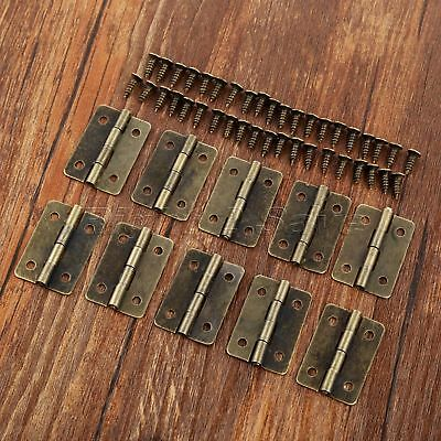 Vintage Cabinet Door Drawer Jewelry Box Hinges Micro Furniture Butt Hinges 10pcs