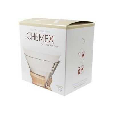 NEW Chemex 6 Cup Pre-Folded Circle Filters, 100pk Coffee