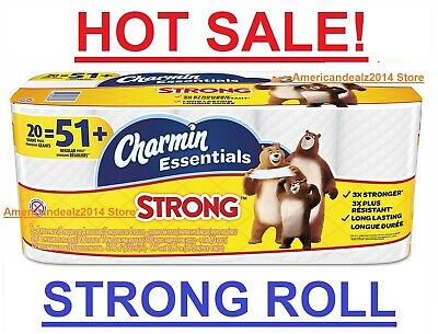 Charmin Essentials Soft Toilet Paper, Bath Tissue, Giant Roll, 20 OR 40 Counts