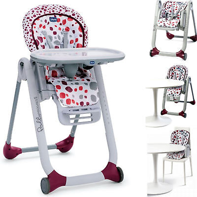 Chicco Cherry Polly Progres5 5 In 1 Baby Feeding Adjustable Highchair