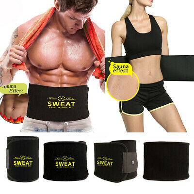 Neoprene Waist Belt Sweat Waist Trainer Trimmer Belt Body Shaper For Men Women M