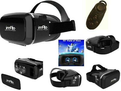 Virtual Reality Video Glasses 3D VR Box Universal Smartphone Headset With Remote