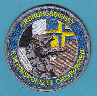 GRAUBUNDEN SWITZERLAND POLICE ALPINKADER MOUNTAIN SEARCH /& RESCUE PATCH