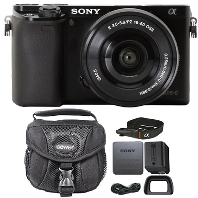 Sony Alpha A6000 Mirrorless 24.3MP Digital Camera Black w/ 16-50mm Lens and Case