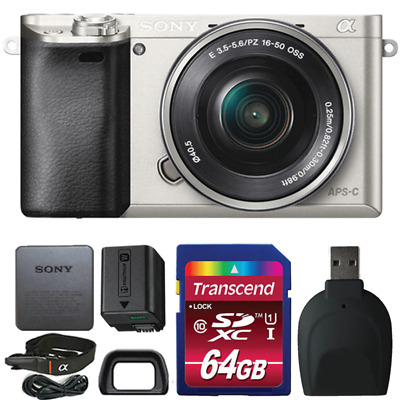 Sony Alpha A6000 Mirrorless 24.3MP Digital Camera Bundle Silver