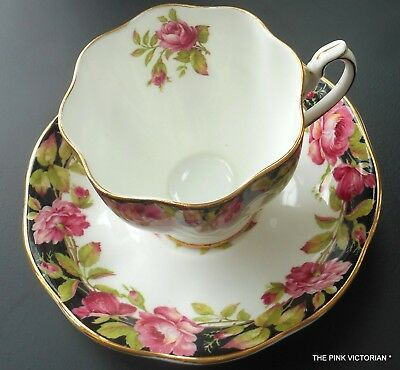 QUEEN ANNE fine Bone China TEA CUP, matching Saucer, Sweet MAUVE PINK Roses