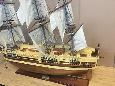 "HMS Bounty 39"" wooden model tall ship large scaled sail boat new fully assembled"