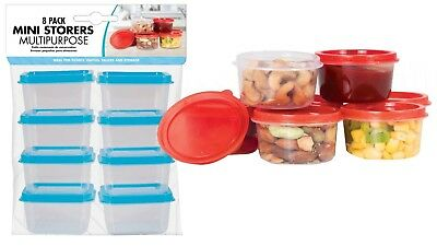 8pc Mini Food Storage Boxes Plastic Container Kitchen Baby Preparation Pot Snack