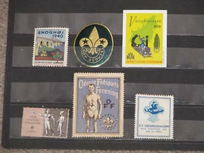 6 different Scouting Stamps from around the World