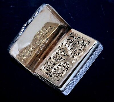 Lg. 1835 Nathaniel Mills Sterling Silver Vinaigrette Box - for Repair AS- IS