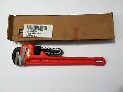 """New"" Ridgid 14"" HD Pipe Wrench 89220 Type ll, Class A"